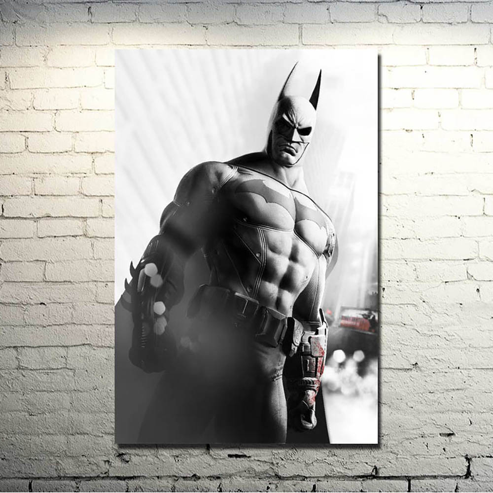Prints Modular Pictures Wall Art Poster Batman City Arkham Origin Video Game Canvas Painting Nordic Style Living Room Home Decor image