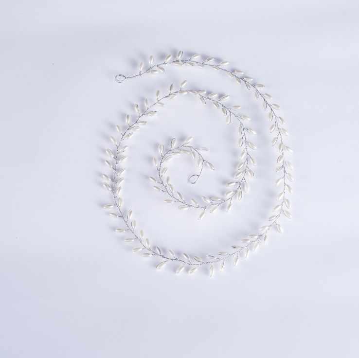 Dames longs bandeaux tête de mariage bijoux perle mariée bandeaux couleurs argentées bandeaux diadème cheveux décorations pour le bal de mariée