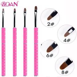 BQAN 1 Pc professionnel manucure UV Gel brosse Liner stylo Transparent acrylique Nail Art peinture dessin brosse photothérapie outils