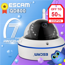 ESCAM QD800 WIFI 2MP 1080P HD WiFi Outdoor IP IR Dome Camera IP66 Onvif P2P Night Vision Camera For Home Security