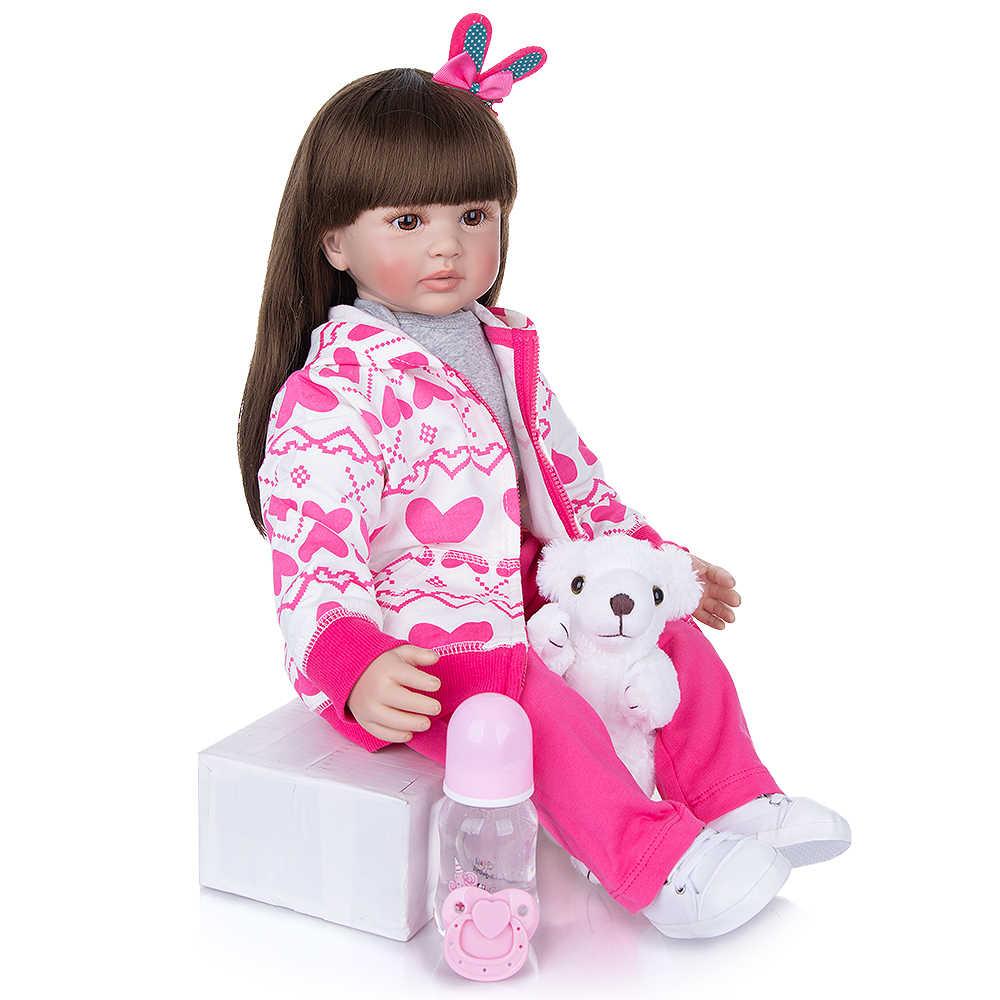 Keiumi 60 Cm Thiết Kế Mới Tái Sinh Em Bé Búp Bê Vải Cơ Thể Thực Tế Công Chúa Thời Trang Đầm Búp Bê Cô Gái Đồ Chơi Cho Bé quà Tặng Giáng Sinh
