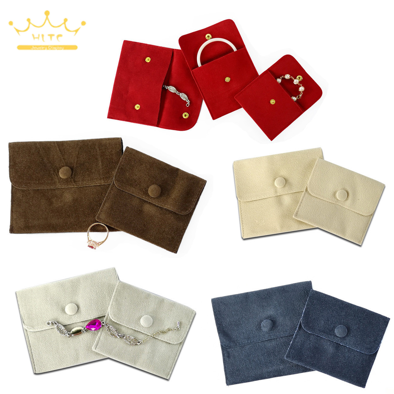 Velvet Jewelry Storage Bag Accessory Mini Pouches Ring Necklace Gift Wrap Jewellry Bag Jewellry Packaging Pouch