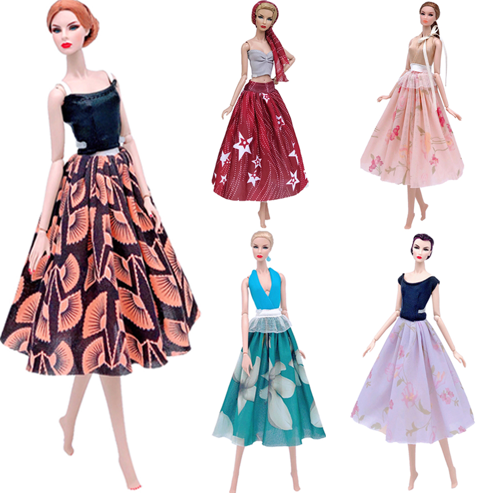 NK Mix New Doll Dress MIni Skirt Party Gown Modern Outfit Daily Wear For Barbie Doll Best Gift Doll Accessories Child Toy JJ image
