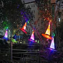 Witches-Hat Costume-Props Dress-Up Hanging-Decor Led-Light Glowing Party Halloween