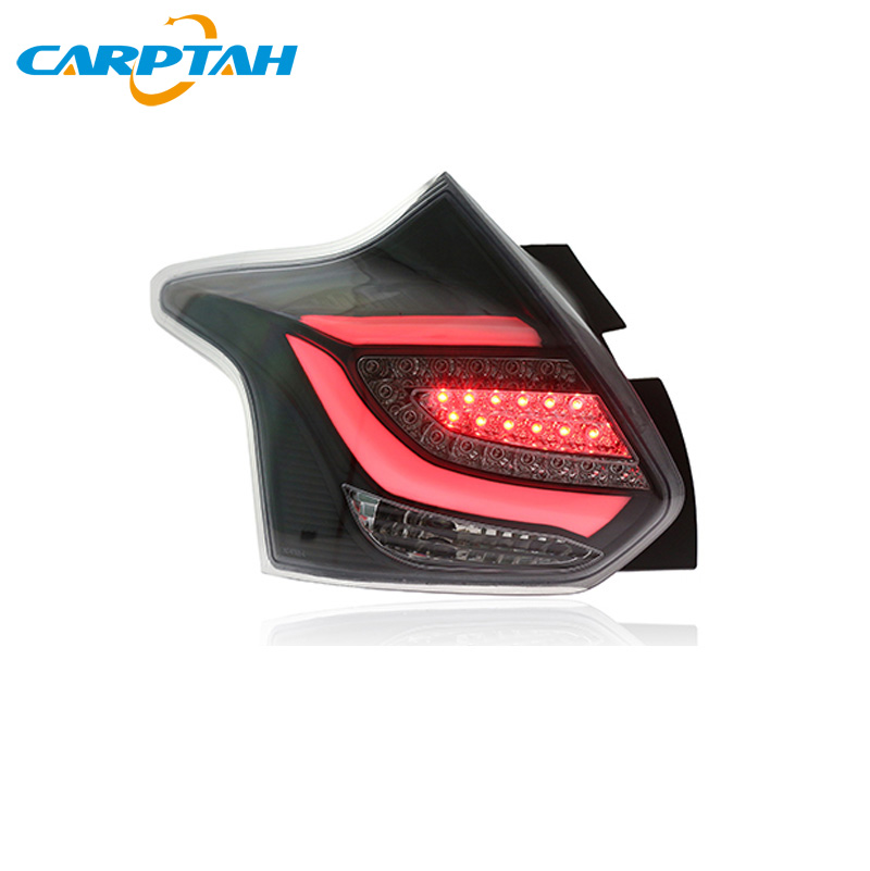 Car Styling <font><b>Taillight</b></font> Tail Lights For <font><b>Ford</b></font> <font><b>Focus</b></font> Hatchback 2012 - 2014 Rear Lamp DRL + Dynamic Turn Signal + Reverse + Brake LED image