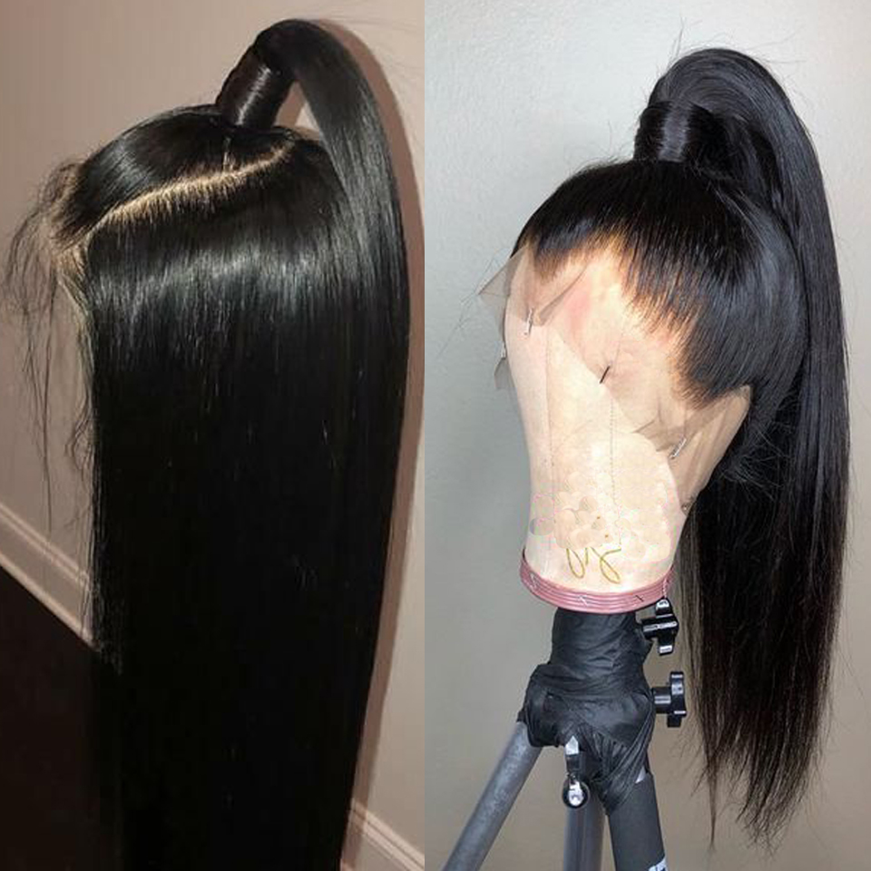 360 Lace Frontal Wig Straight Lace Front Human Hair Wigs For Black Women Brazilian #2 #4 Brown Lace Front Wigs With Baby Hair