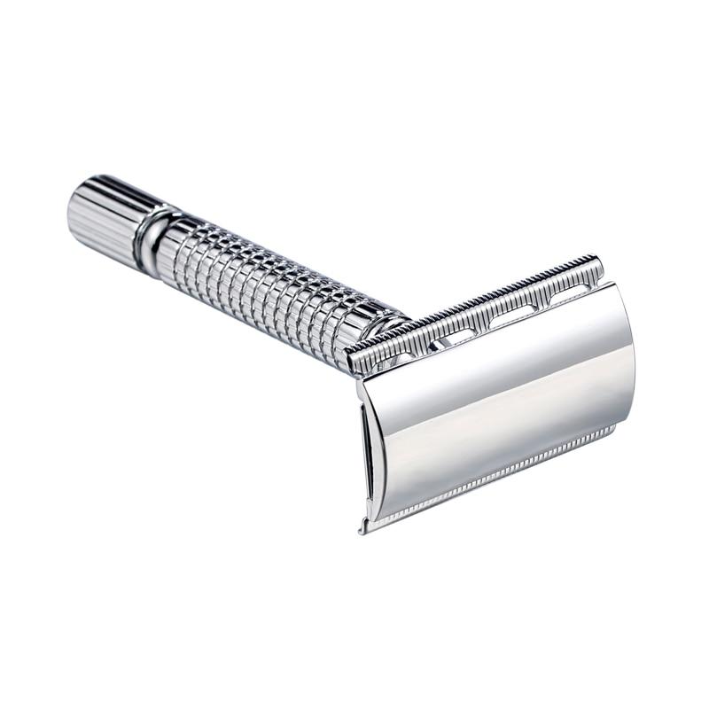 1 Razor +1 Blade Men Shaver Steel Handle Razor Safety Razor Shaver Double Edges Manual Shavers With Travel Package 3