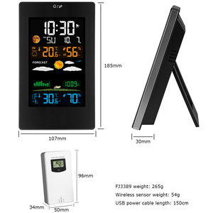 Image 5 - Weather Station Barometer Hygrometer Thermometer Digital Color Display Indoor Outdoor Wireless Forecast Wall Table Alarm Clock