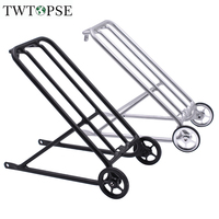 TWTOPSE Bike Standard Racks For Brompton Folding Bicycle Easy Wheel Cargo Racks Stable Bicycle T6 Aluminum 310g CNC Anodizing