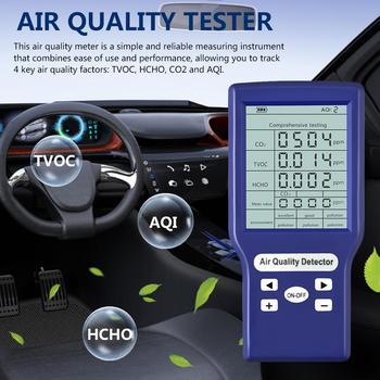 Digital CO2 Sensor PPM Meters TVOC HCHO PM2.5 Meter Mini Carbon Dioxide Detector Gas Analyzer Air Quality Monitor Gas Detector