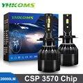 YHKOMS H4 светодиодный H7 светодиодный 20000LM H1 H8 H9 H11 9005 HB3 9006 HB4 9012 Автомобильный светодиодный светильник лампы Авто противотуманных фар автомобил...