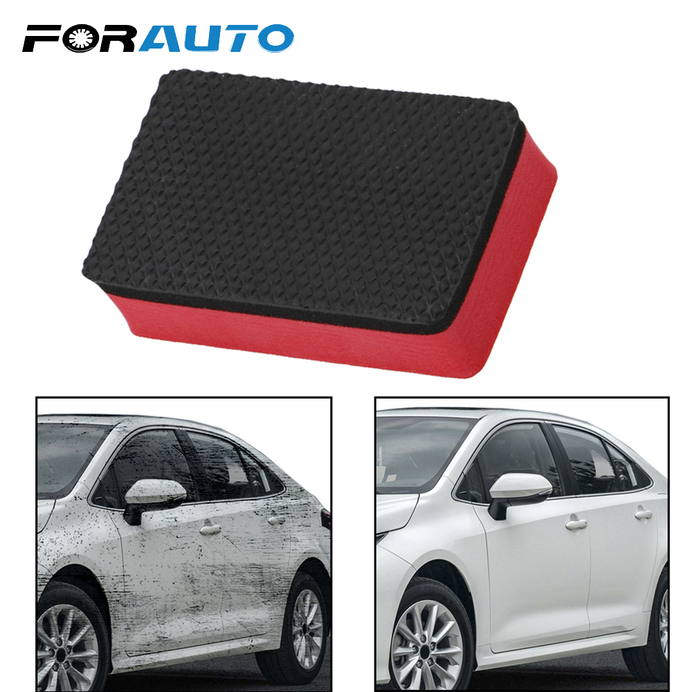 FORAUTO Car Magic Clay Bar Cleaning Eraser Sponge Maintenance Tool Car Wash Sponge Wax Polish Pad Auto Care Detailing image