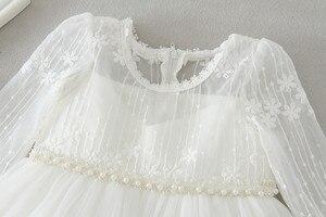 Image 3 - HAPPYPLUS vestido de bautizo con cuentas para niñas esponjosa, primer vestido de cumpleaños para Princesa para niñas, vestidos de graduación para bebés