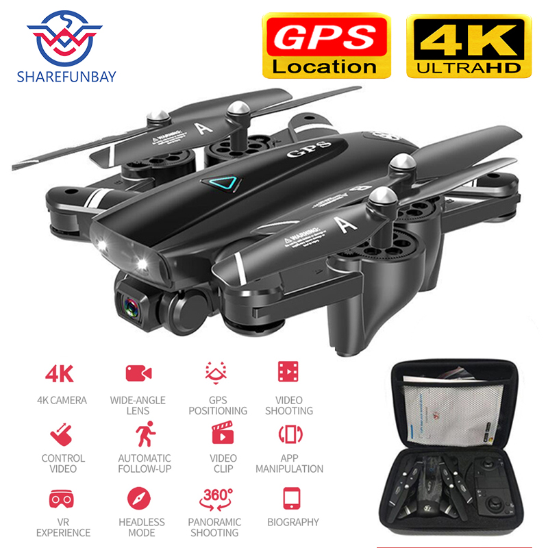 S167 zangão gps hd câmera 4 k 5g wifi fpv 1080 p vídeo em tempo real dron rc helicóptero vôo 20 minutos quadcopter zangão câmera