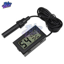 AC 240V 10A LCD Digital Thermometer Hygrometer Temperature Indoor Temperature Sensor Humidity Meter Gauge Instruments Cable protmex digital temperature humidity meter ambient wet bulb dew point temperature moisture tester thermo hygrometer