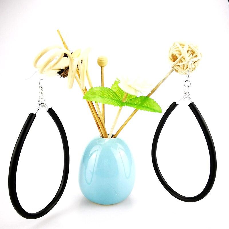 UKEBAY New Geometric Big Earrings For Women Drop Earrings Rubber Jewelry Handmade Hollow Rope Dangler Vintage Earring Wholesale