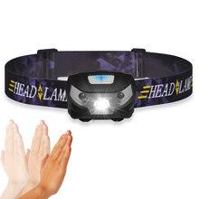 Налобный мини фонарь светильник Батарея светодиодный головной