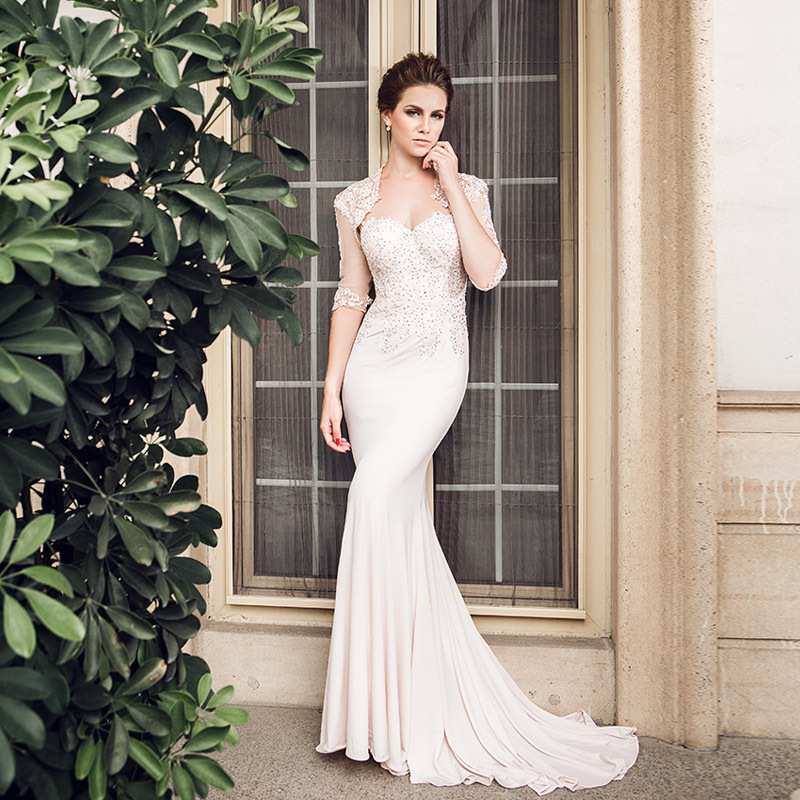 Elegent Floor-Length Mermaid Mother Of The Bride Lace Dresses With Jacket 2016 Sexy Sweetheart Long Crystal Appliques