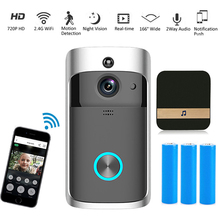 HD 720P Smart WIFI Visual Doorbell Infrared Night Monitoring Remote Indoor Chime Apartments Door Bell Ring Home Security Cameras