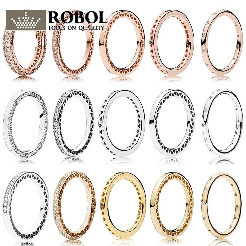 PDB JZ  03 Original 100% 925 Sterling Silver Engraved Logo Original Model Production Women's Ring Heart Ring.