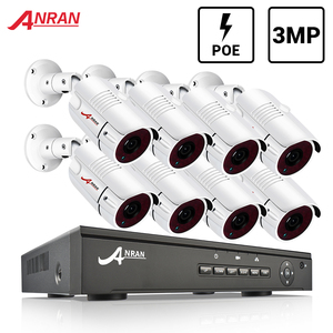 Image 1 - ANRAN 8CH 3MP POE Security Camera System Outdoor IR CUT CCTV Video Surveillance Video Recorder Kit Record Waterproof Remote