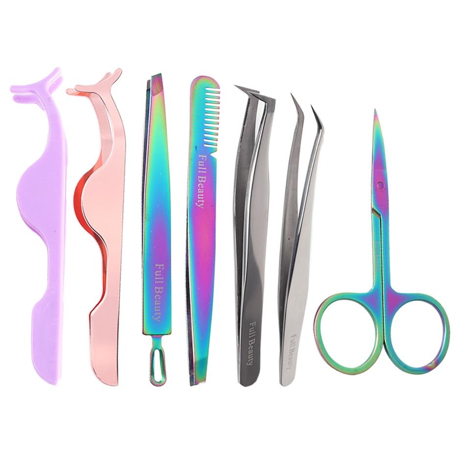 1pcs Professional Eyelash Extension Tweezers Stainless Steel Eyebrow Clip Clamp Eyelash Applicator Makeup Tools TRND058-1