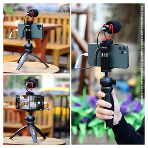 Image 4 - Ulanzi Rekord Mikrofon Stativ Vlog Kit Mini Stativ Vertikale Schießen Telefon Mount Kit 3,5 MM Jack Video Audio Mikrofon