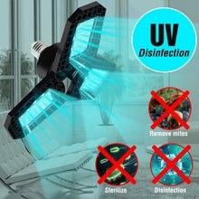 Lampe de Garage UV déformable 80W 60W 40W E27, lampe de désinfection 110V, ampoule germicide UVC 220V