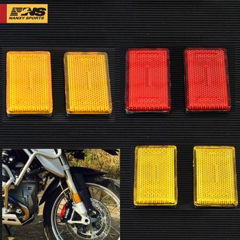 1pair Motorcycle 3colors Front Fork Leg Reflector For BMW K1200RS K1200 GTR1200RT R1200GS R1200R New image