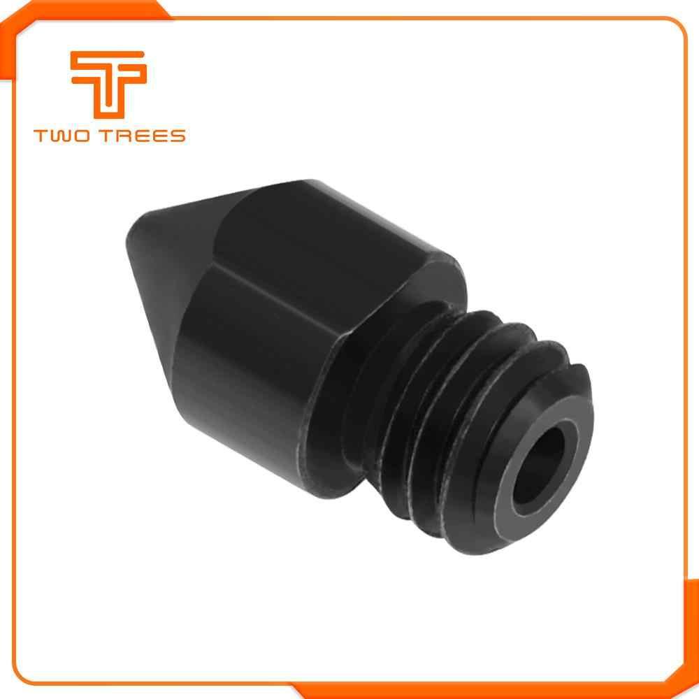 3D Bagian Printer RepRap MK8 Baja Keras Yang Nozzle 1.75 Mm 0.4/0.6/0.8 Mm untuk Ender 3 CR10 ender 3 Pro 3D Printer