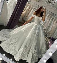 Свадебные платья 2020 пышная Белая Кружевная аппликация сексуальные