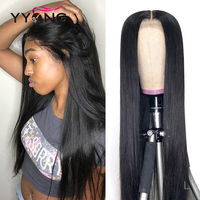 Yyong Hair Straight  Hair 360 Lace Frontal Wigs Natural Color 12-24 Inch Pre-Plucked Baby Hair   wigs 1