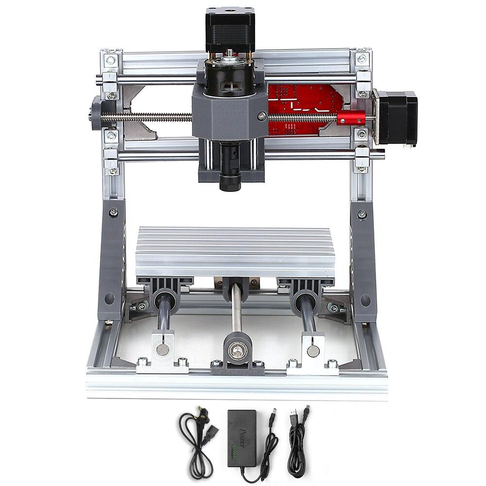 Bricolage Mini mise à niveau Version routeur CNC Machine 1610 GRBL contrôle CNC graveur fraisage bois sculpture Machine zone de travail 16x10x4cm