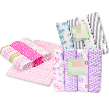 fashion 4pcs/pack 100%cotton flannel receiving baby blanket newborn colorful cobertor baby bedsheet supersoft blanket 76x76cm receiving blankets 4pcs lot cotton flannel newborn baby blankets cotton blanket throws baby blanket grasping carpe 76 x 76cm