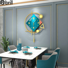 Creative Luxury Wall Clock for Living Room Wrought Iron Wall Clock Wall Watches Home Decor Restaurant Decoration Wall Gift Ideas