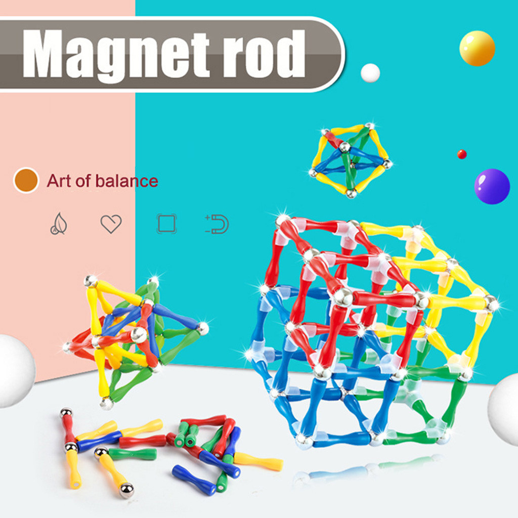 Model Building Tool Sets 124Pcs/Set Fashion Educational Magnetic Construction Sticks Building Blocks Toy For Kids Drop Shipping