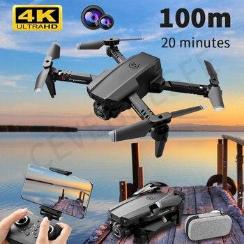2021 New Mini Drone XT6 4K 1080P HD Camera WiFi Fpv Air Pressure Altitude Hold Foldable Quadcopter RC Drone Kid Toy GIft VS E520 1
