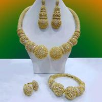 missvikki Luxury Nigerian Dubai Jewelry Sets For Women Full Shiny Cubic Zircon Bridal Wedding Engagement Jewelry Sets 2019