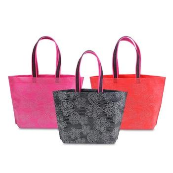 200PCS / LOT Waterproof Shopping Bag Nonwoven Environmental Bag Foldable Reusable Reusable Tote Pouch Handbags