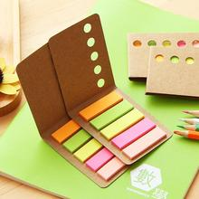 1pcs/lot Kawaii Kraft Simple Leather Note Sticky Notes School Supplies Cute Stationery For Gifts