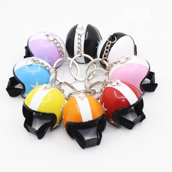 2020 New Helmet Keychain Cool Car Motorcycle Key Chains Mini Cute Motorcycle Pendant For Harley Sportster Gift Jewelry Wholesale image