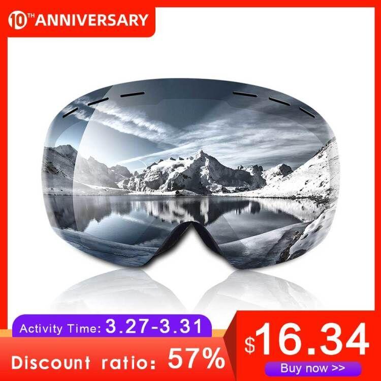 Ski Goggles UV400 Spherical Double Layers Anti-fog Protection Keep Warm Big Lenses Snow Glasses  Snowboard Goggles Snow Goggles