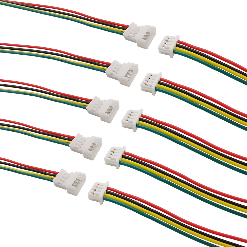 1.25mm Micro JST 5-Pin Female Connector with wire 15cm Male Straight Header x 10