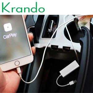Krando USB Smart Link apple carplay Dongle dla androida odtwarzacz nawigacyjny Mini USB Carplay Stick z androidem Auto carplay USB