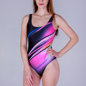 Image 3 - Riseado Sport One Piece Swimsuit Women Competition Swimwear 2020 Swim Cross Bandage Swimming Suits for Women U back Bathers