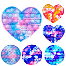 Push PoP Bubble Sensory Toy Autism Needs Squishy Stress Reliever Toys Adult Child Funny Anti-stress PoppIt Fidget Reliver Stress