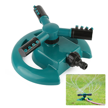 Garden Water Sprinkler 360 Garden Sprinklers Automatic Watering Grass Lawn Fully 3 Nozzle Circle Rotating Lawn Irrigation Tool automatic lawn oscillating sprinkler watering irrigation tool for lawn garden irrigation lawn spray nozzle garden supplies