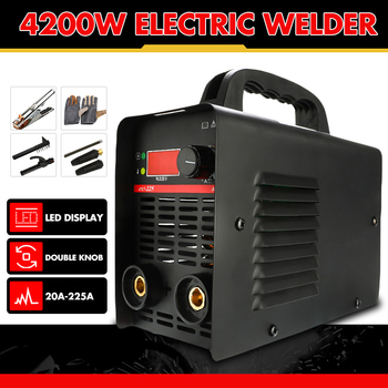цена на 4200W Handheld IGBT Inverter Arc Welder Welding Machine Digital Display Mini Portable Welding Tool Adjustable 220V 20A-225A