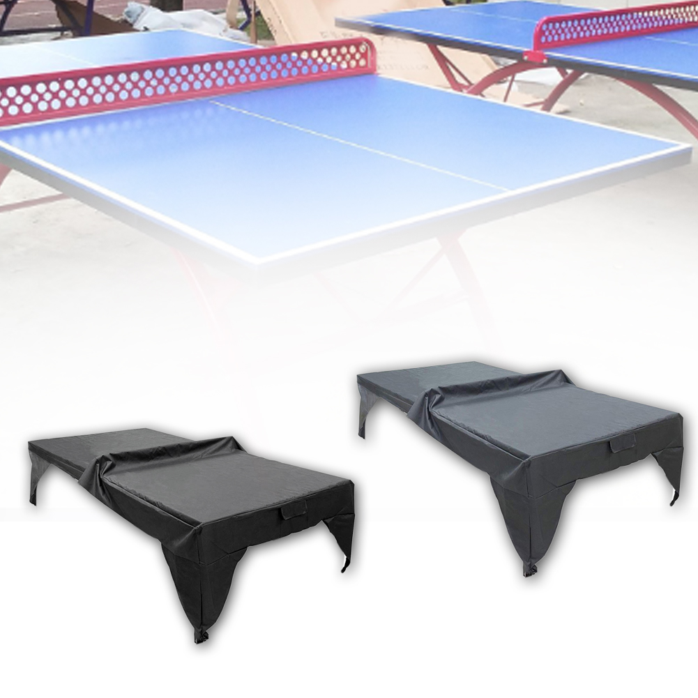 Outdoor Waterproof Dustproof Lightweight Pingpong Table Cover Year-around Yard Playground Protective Sheet Practical Easy Clean
