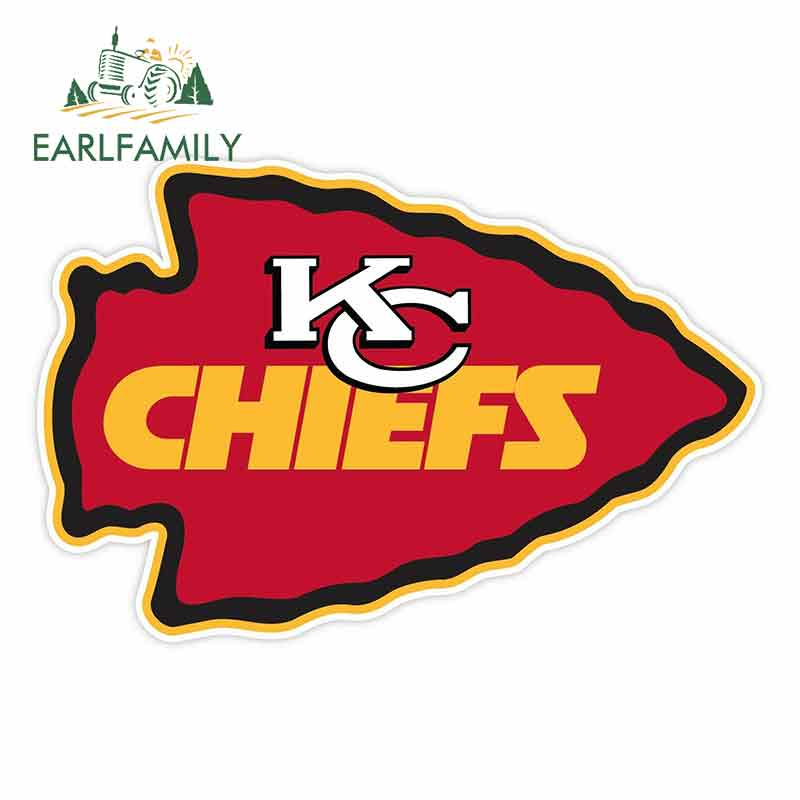EARLFAMILY 13cm X 8.7cm For Kansas City Chiefs Car Bumper Window Stickers Creative Stickers Fashion Decals Vinyl Material
